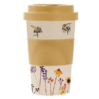 Travel Mug Pretty Water Colour Busy Bees Design by Jennifer Rose